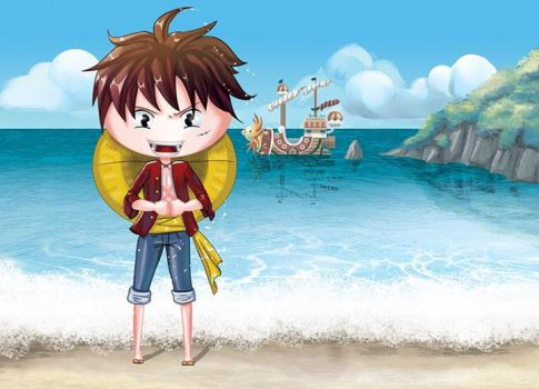 Luffy fanart by Ange-Ninette