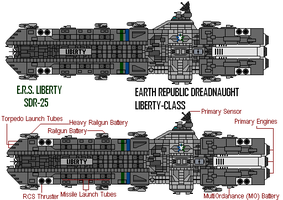 ERS Liberty-Class Dreadnaught by gryphonarts