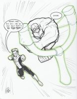 Green Lantern and The Hulk by AdamWithers