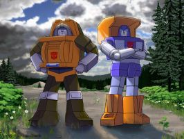 Huffer and Brawn by Oreobot