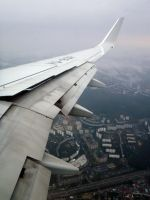 Above the Moscow (Boeing 737-800) by Betelgeuse7