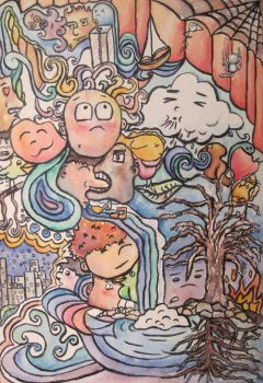 Doodle Land in Watercolor by Yasmin88