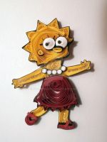 Paper Quilling - Lisa Simpson by wholedwarf