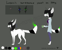 Leshie reference sheet by Colonel-Morse