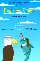 Eagle Vs Shark Poster by Bootenhoven