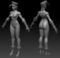Cammy sculpt wip by Jiggeh