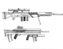 Sniper and Assault Rifle by Gref313