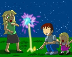 Family Fireworks by pheeph