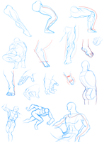Dynamic Figure Drawing Practice: Day 2 by QuesoGr7