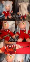 Inuyasha plush version by Momoiro-Botan