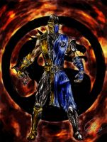 Scorpion Sub-zero colors by mxmg
