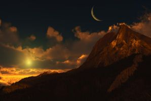 moonlit wilderness by Mortsnort