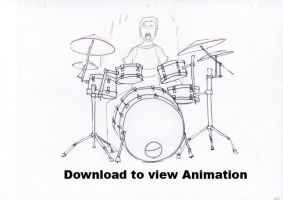 Drummin Away: Pencil Animation by slyshand
