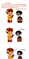 Kid Flash and Robin for Nancy by Sorayoushi