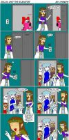 Zelda and the Elevator by pheeph