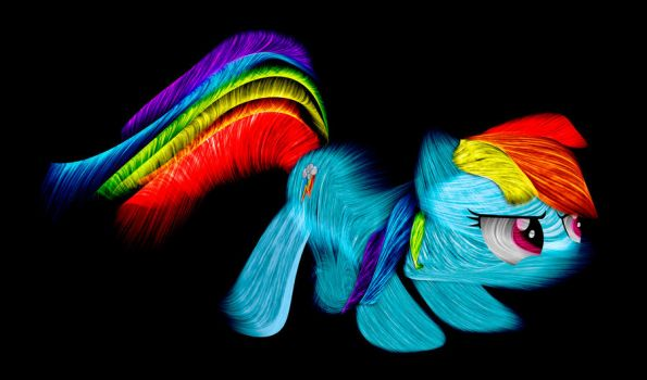 Rainbow Dash fractal type thingy... by InternationalTCK