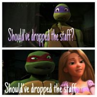 Should've dropped the staff by NinjaTurtleFangirl