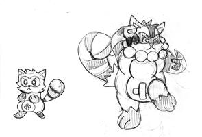 Who's that Fakemon? It's Tanucoon and Tanukayo! by Trueform
