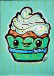 Mint Cupcake by marywinkler