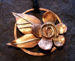 Copper Flower by MoonLitCreations