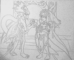 Crappy Wedding Sketch by Tyrranux