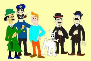 Tintin and the Gang by BARproductions