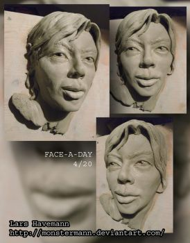 FACE-A-DAY 4/20 sculpture by Monstermann