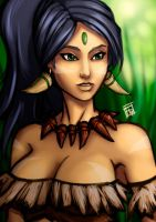 League of Legends: Nidalee, the Bestial Huntress by Bathiel