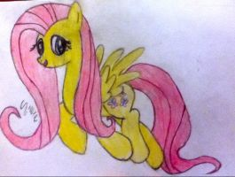 Fluttershy-drawing by Shadowxnote