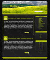 Green blog layout by FreakDr