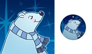 Polar Bear Holiday Design by Nyrak