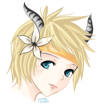 lineless horns by xMeiji