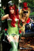 Poison Ivy and Harley Quinn -  Steampunk ver. by Flying4Freedom