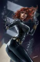 Black_Widow by CrisDelaraArt