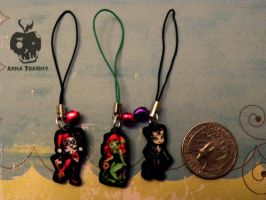 Gotham City Sirens Charms SET by AppleToxicity