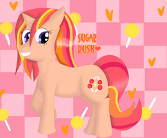 New MLP OC: Sugar Rush by Warped-Dragonfly