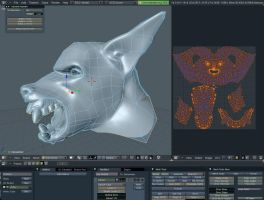 werewolf blender head by djsaman
