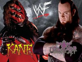 Kane and Undertaker Wallpaper - Classic by deviantfafnir