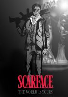 Scarface: The World is Yours Greyscale by PaulVincent