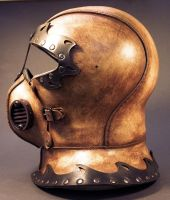 Steampunk Helmet Side View by TomBanwell