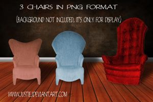 PNGS - 3 Various Chairs by justiej