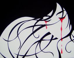Crying Blood by Ooogidy-Boogidy-Ink