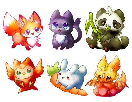 kawaii keychains by michellescribbles