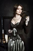 Skulls Corset for Darina Ithuriel by Alice-Corsets