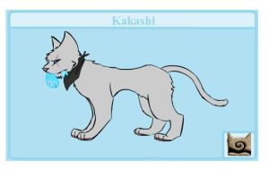 kakashi cat by patch-kitty-artist