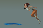 Chell's Infinite Loop by Eeloyloy