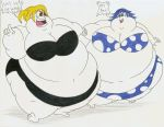 COM Obese Lucy and Juvia by Robot001