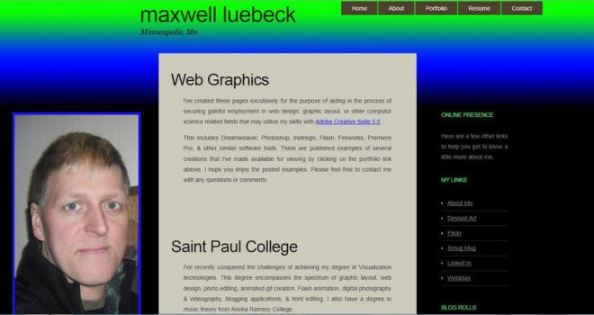 Maxwell Luebeck Home Page by Duganrox