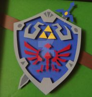 Link/Zelda Hylian Shield and Master Sword by ShadowOfDorkness