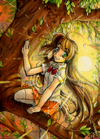 ACEO Commish - Sunset Tree by Egao-ho